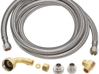 Everbilt 3 8 in  x 3 8 in  x 60 in  Stainless Steel Universal Dishwasher Supply line