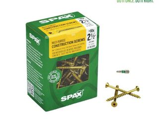 Spax 4191020500606 10 x 2 1 2 T Star Yellow Zinc Flat Head Wood Screw  1 lb Box