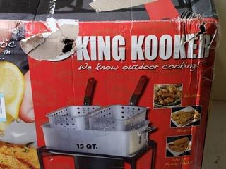 KING Kooker  15 Quart Outdoor Cooker for Outdoor Propane Use Only