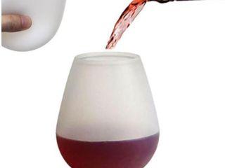 J You 12 Oz Silicone Wine Glasses   Set of 2