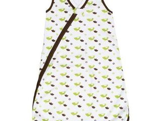 JJ Cole Wearable Blanket  Green Birds  0 6 Months