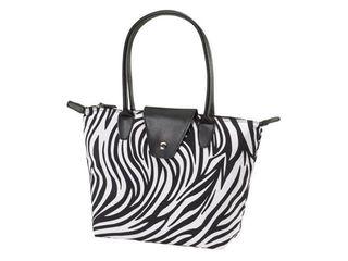 Zebra Print Small Fold Up Bag