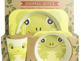 5 Piece Kids Meal Set   Eco Friendly   Made Out Of Organic Bamboo