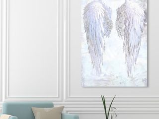 Fashion and Glam Gold My Amethyst Angel Wings Feathers   Wrapped Canvas Graphic Art Print  Retail  142 99