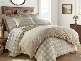 Stone Cottage Braxton Beige Cotton Comforter Full Queen Retail  91 79
