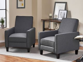 Darvis Contemporary Fabric Recliner one  1  by Christopher Knight Home  Retail 263 59