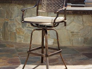 Sebastian Cast Aluminum  1  Bar Stool by Christopher Knight Home  Retail 315 99