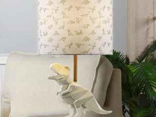 Taylor   Olive White Geometric Dinosaur Table lamp  Retail  72 99