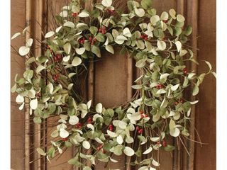 Winter Silver Dollar Wreath 24  Retail  44 99