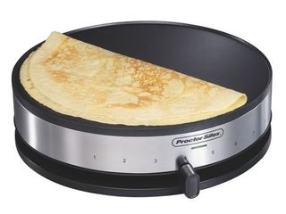 Proctor Silex 38400 Electric Crepe Maker  13 Inch Griddle   Spatula Nonstick Pan   54 99