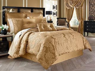 Five Queens Court Colonial Woven Jacquard 4 piece King Comforter Set  Retail 254 99
