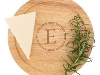 Personalized Rubberwood 5 piece Gourmet Cheese Board Set  44 99