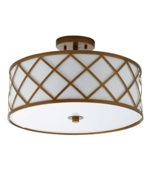 Elizabeth 16 75  Metal lED Flush Mount  Gold White by JONATHAN Y  Retail 129 99