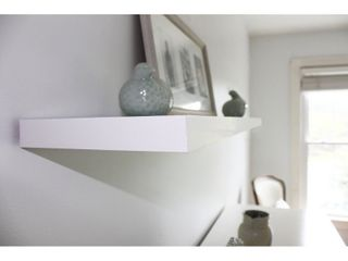 InPlace 48 inch White Wall Mounted Floating Shelf  Retail  33 59