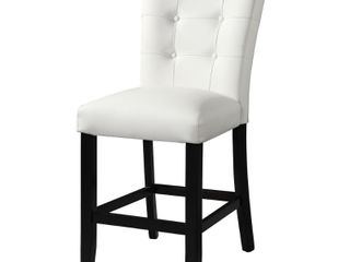Porch   Den Merkem White Faux leather Counter Chair  Set of 2  Counter Height  Retail 157 24