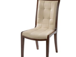King leather Dining Chairs  Set of 2  Retail  565 99