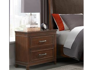Martin Svensson Home la Jolla 2 Drawer Nightstand  Coffee Walnut  Retail 229 99