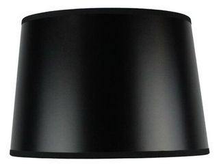 4 Hardback Shallow Drum lamp Shade Black Gold 10x12x8  Retail  42 99 Each