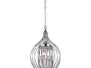Acacia 3 light Chrome Foyer Pendant light  Retail  169 99