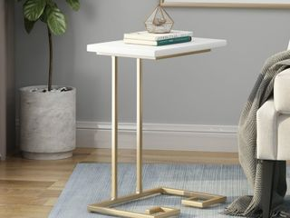 Ettenmoor Modern Glam Faux Wood End Table  Retail  72 06