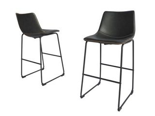 Best Quality Furniture Modern 29 inch Faux leather Bar Stool  Set of 2    Retail 172 49
