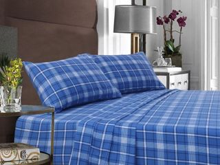 EnvioHome Heavyweight Cotton Flannel Bed Sheet Set  42 74