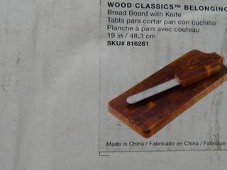 Dansk Wood Classics Belonging Bread Board with Knife