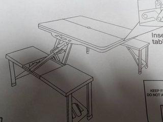 Folding Metal Picnic Table