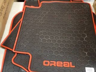 OReal Black and Red Floor Mats