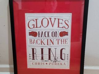 Signed Chris Pureka Gloves back on in the Ring