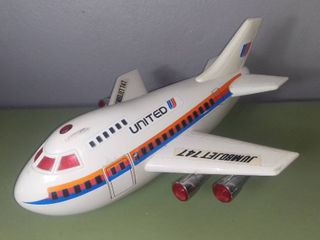 VTG 1988 Cheng Ching Toys 16a Jumbo Jet 747 Air Plane   Battery Operated