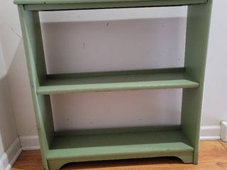 Small Wooden Olive Green Bookshelf