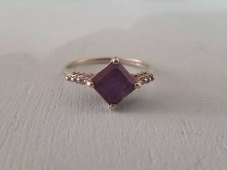 Alexandrite Sapphire Impression Ring  Size 9