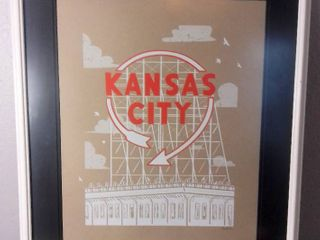 Wall Hanging Picture Graphic Design Art  Kansas City light Up Sign   Bozz Prints