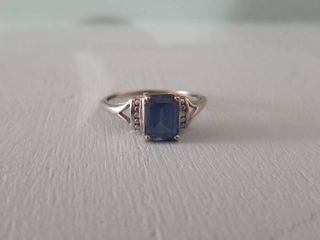 Sapphire Impression Ring  Size 9