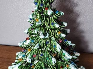 Vintage Ceramic Tree with Multi Color Bulbs  no light