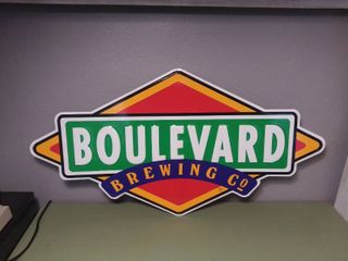 Wall Hanging Metal Sign   Boulevard Brewing Co