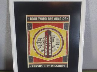 Graphic Design Wall Hanging Art   Boulevard Brewing Co  KCMO