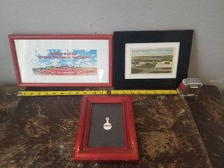 lot of Three Frames with Pictures