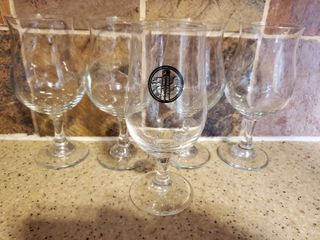 lot of 5 Water Glasses