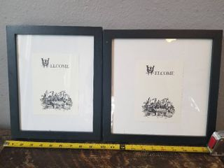 Two Welcome Prints in Black Frame