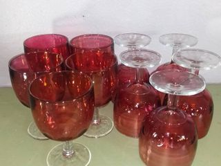 New Age Cranberry Goblets