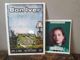 Bon Iver Art Print  Signed by W B  livingston III  An Oklahoma Prisoner  With Alice Merton Picture