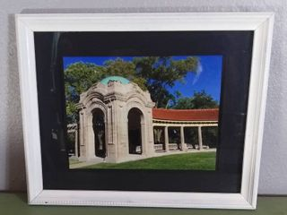 Wall Hanging Art Photography   Photo of loose Park KCMO   White Frame