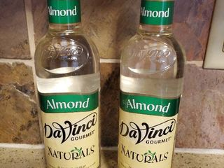 lot of 2 Davinci Gourmet Naturals Almond Syrup  25 4 Ounce