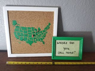 Green Cork Board USA and Cute Where do you call home picture