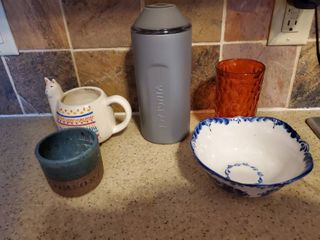 lot of 5 Kitchen Must Haves  Wine Bottle Cooler  Cups and More