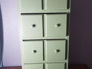 Cute Green Cabinet  With Four Drawers