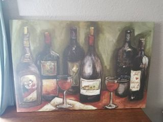 large Wine Canvas Painting