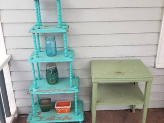 Cute Plant Stand and Plant Table  Including Jars and Pots